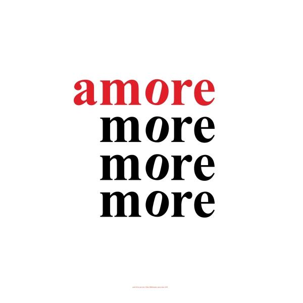 Volker Hildebrandt, amore more, 2013, Digitaldruck - Dibond, 60 x 60 cm, 10 Exemplare