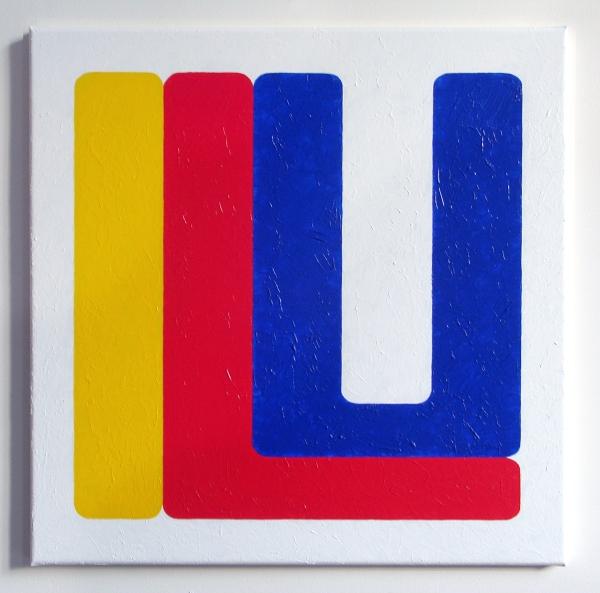 Volker Hildebrandt, Classic ILU, 2013, Acryl auf Leinwand, 60 x 60 cm